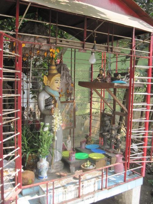 Nat spirit house in Myanmar