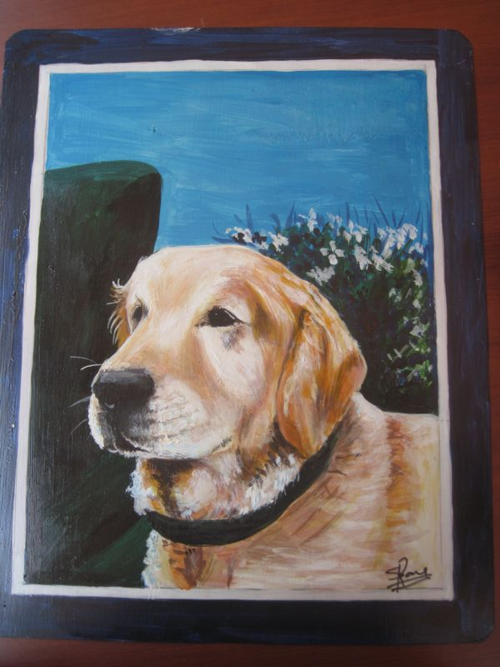 Folk Art Golden Labrador Retriever