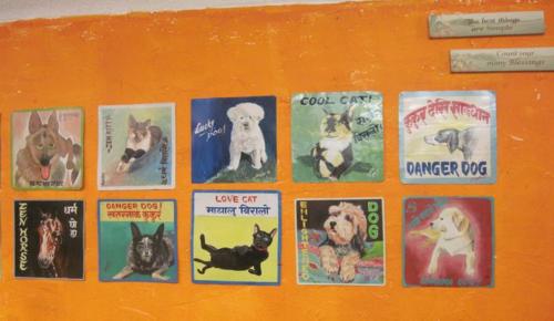 Nepal Art Dogs at the Kathmandu Boutique