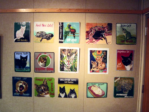 Wall of Cat Art