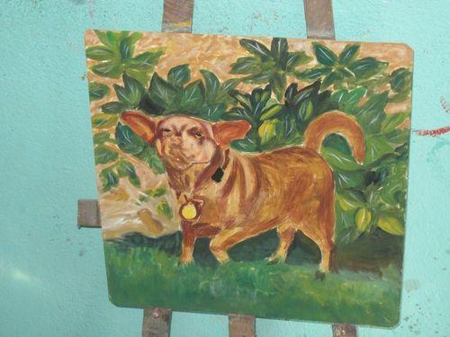 Folk art Chihuahua mix
