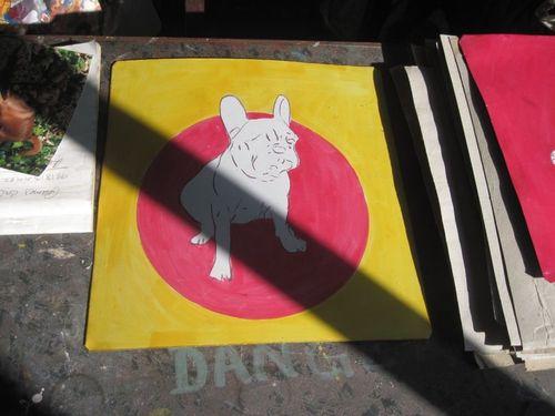 Folk art French Bulldog