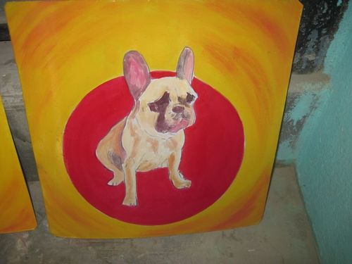Folk Art French Bulldog
