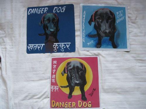 Folk art Black Labrador
