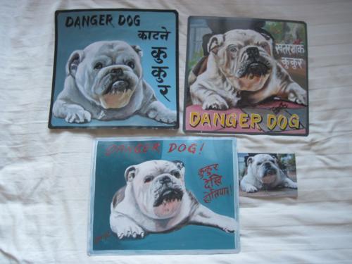 Folk art Bulldog