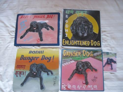 Folk art black dog
