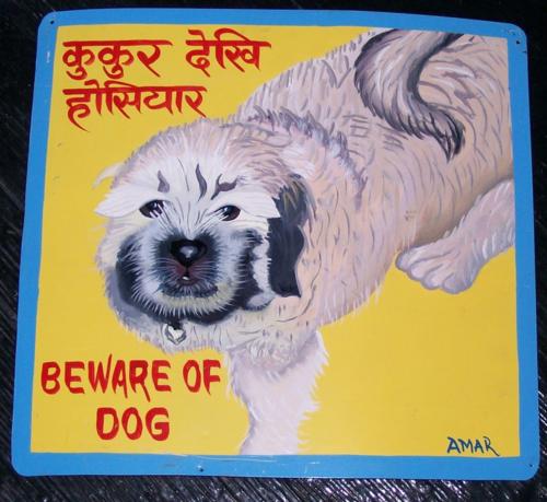 Folk art Lhasa Apso puppy