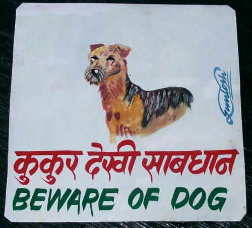 folk art Fox Terrier by Santosh
