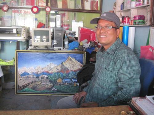 Oil painting from Kathmandu