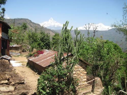 Typical mountain village near Pokhara, Nepal