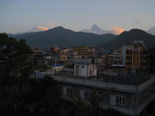 Annapurna Range view from Green Tara rooftop