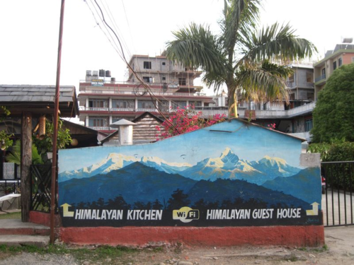 Folk art mural by Shahi in Pokhara