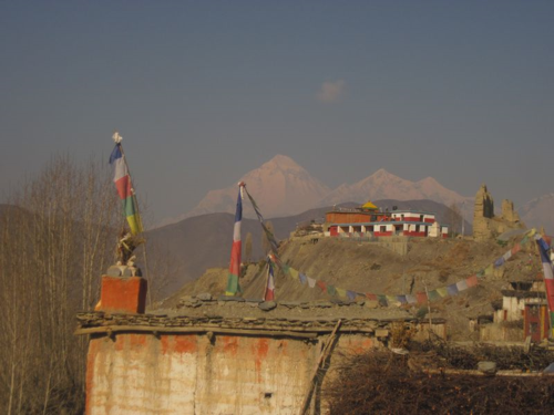 Sunrise over Jhong, Mustang, Nepal