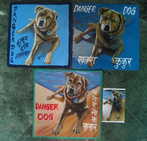 Folk art Chow Rottweiler mix