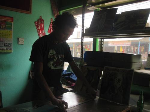 Artist at work in Kathmandu