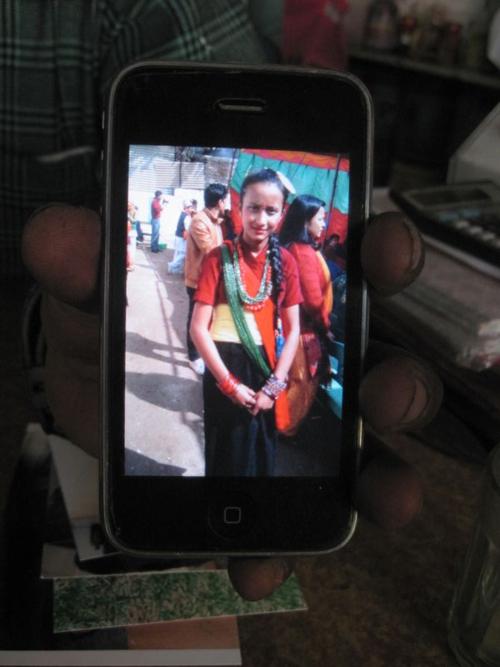 Nepali girl in native costume