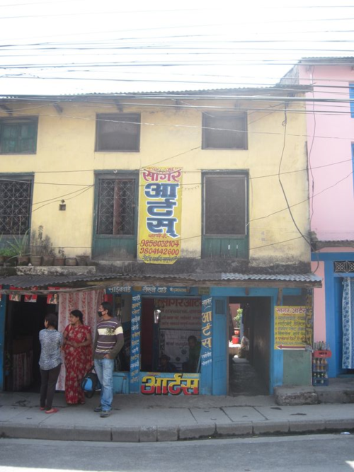 Sign Painter's shop in Pokhara