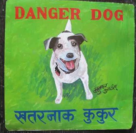 Folk art Jack Russell Terrier hand painted on metal