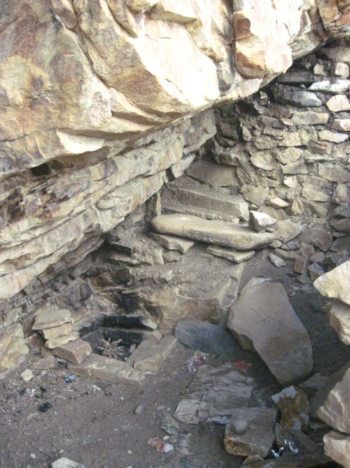 Interior cave in Mustang, Nepal