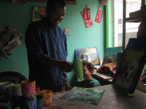 Artist's studio in Kathmandu