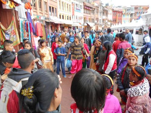 Nepali girls in costume