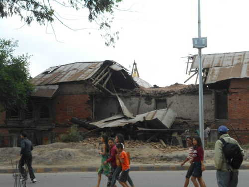 Kathmandu streets minutes after the April 25, 2015, earthquake