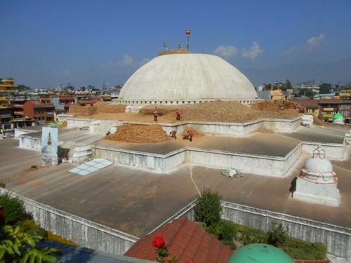 Boudha Stupa after the earthquake