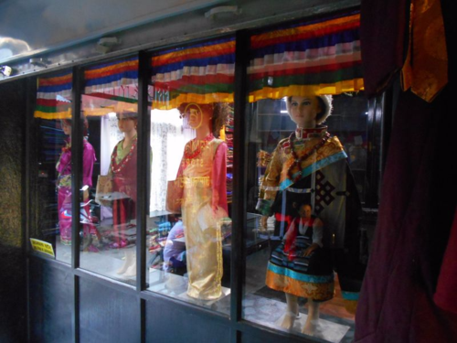 Nepali native clothing on mannequins in Nepal