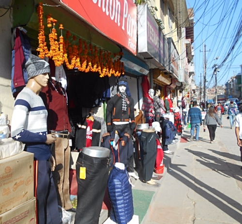 Mannequins on the streets of Nepal