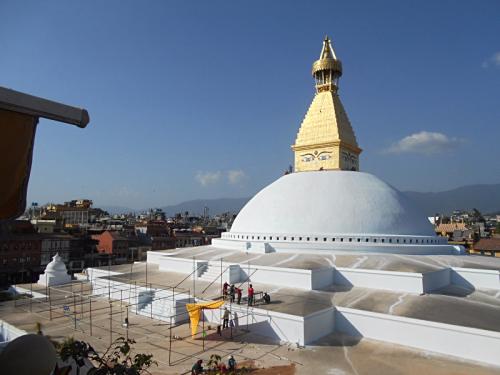 Boudhanath Stupa rebuilt after earthquake