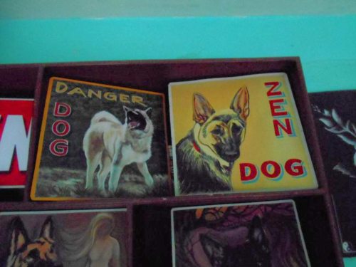 Folk art Beware of Dog signs from Nepal