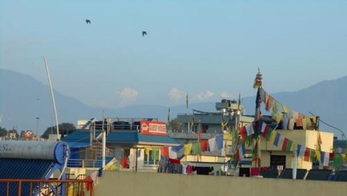 Himalaya view from Kathmandu rooftop