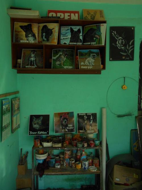 Folk art Studio in Kathmandu