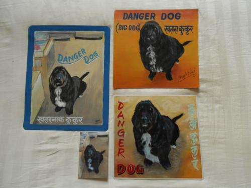 Folk art Basset Hound Wolfhound