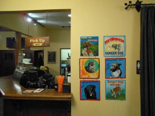 Folk art Beware of Dog art in Mar Vista