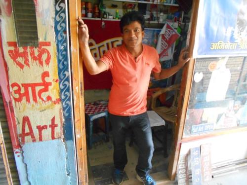 Nepali signboard artist studio