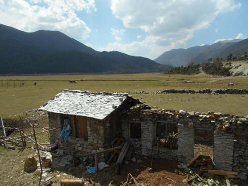 Dhorpatan buildings in disrepair
