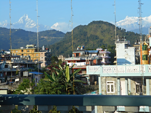 Himalayan view from Hotel Green Tara