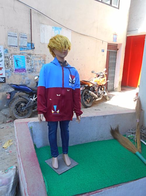 Trump like mannequin in Nepal