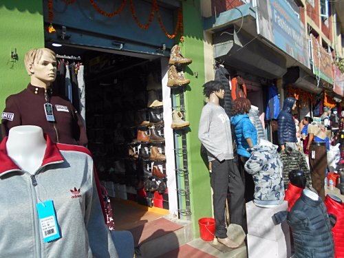 Mannequins on the streets of Kathmandu