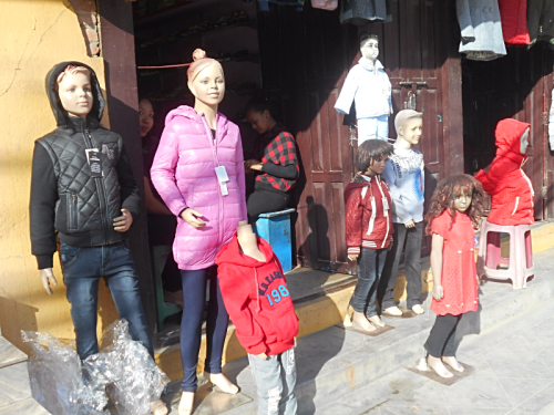 Miscellaneous mannequins on the streets of Kathmandu