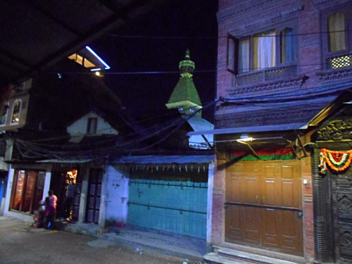 Boudha Stupa from the side road