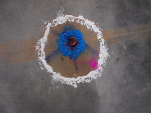 Primitive Rangoli in Boudha