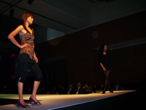 Nepali fashion models on the runway