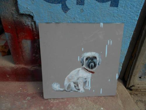 Folk art Shitzu Pekingese Dog