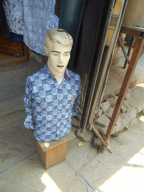 Male mannequin on the streets of Kathmandu