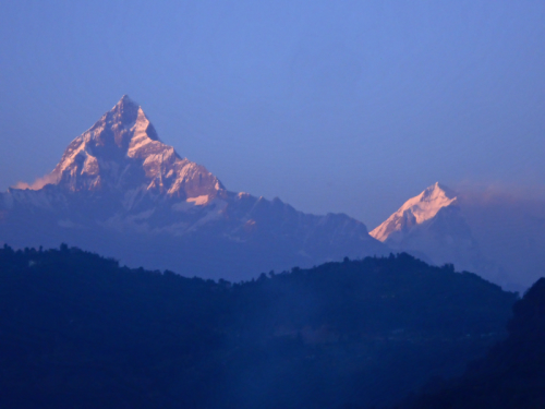 Machhupuchhare as seen from Pokhara Lakeside