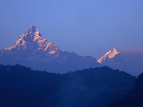 Machhupuchhare as seen from Pokhara Lakeside