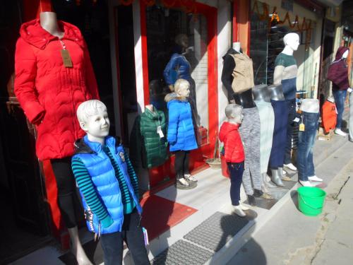 Child mannequins in Kathmandu
