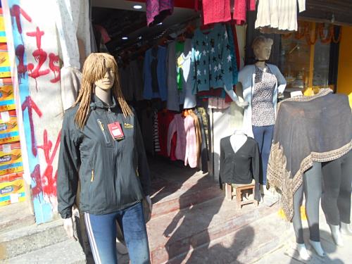 A mannequin with dreadlocks in Kathmandu